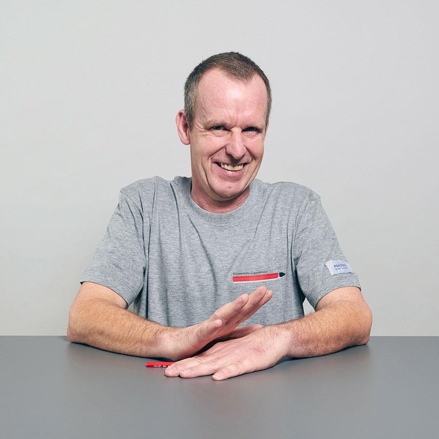 Frieder Essig, Schreinermeister und Mitarbeiter der Schreinerei Eigenmann AG