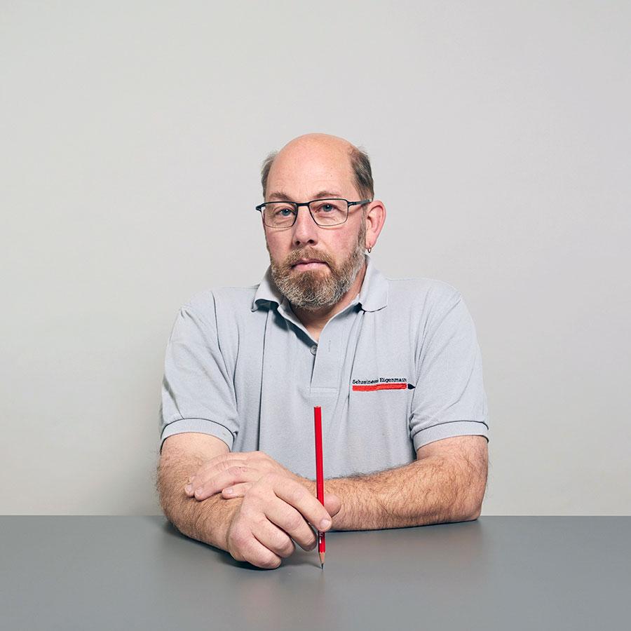 Peter Fürpass, Schreiner und Restaurator bei der Schreinerei Eigenmann AG