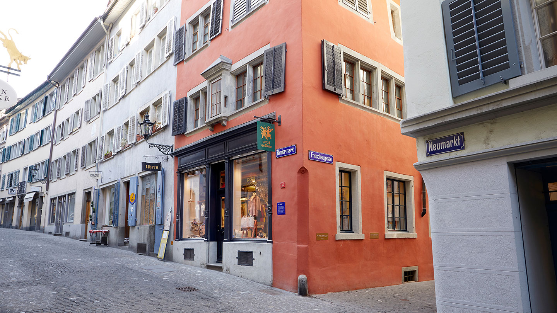 Rindermarkt, Schweiz, Referenzarbeiten der Schreinerei Eigenmann AG, Sanierung von Holzfenstern und Fensterläden aus Holz